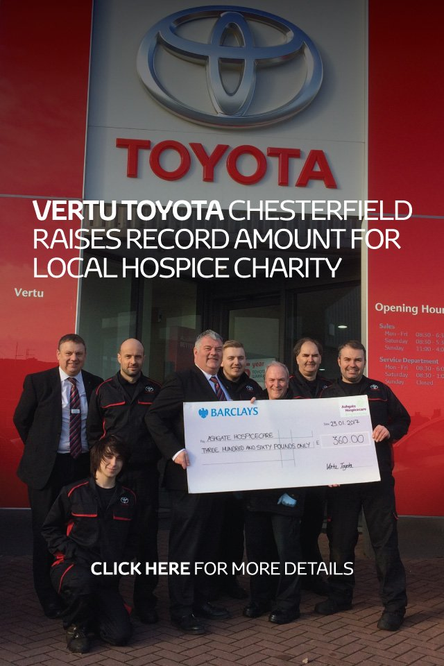 Vertu Toyota Chesterfield local hospice charity