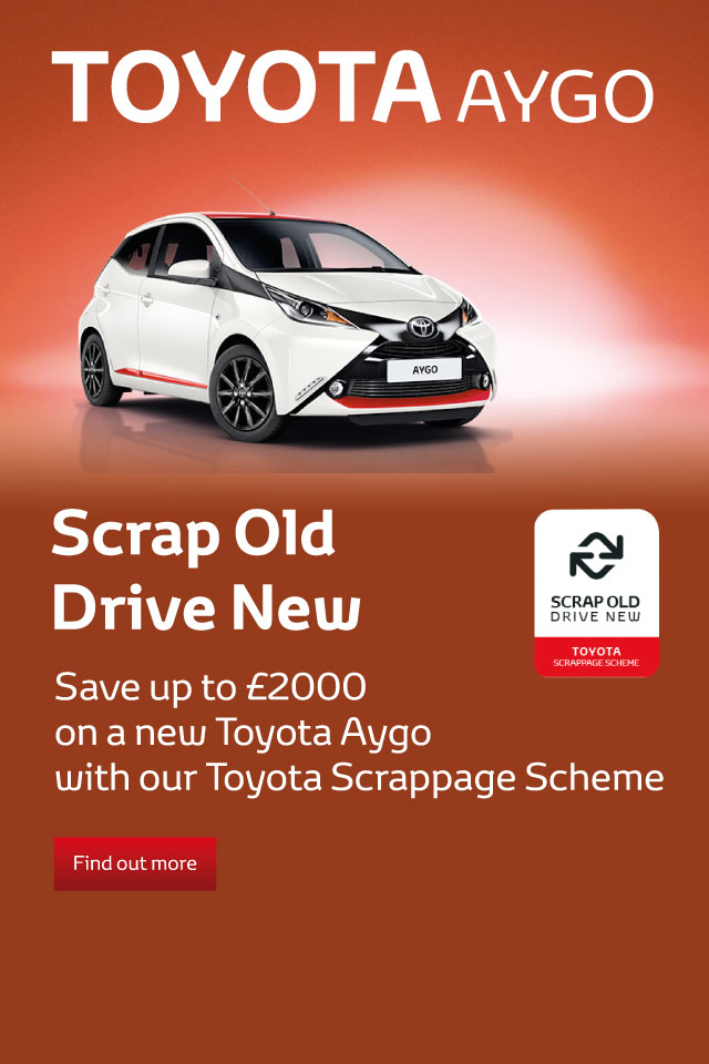 Toyota Aygo Scrappage Banner