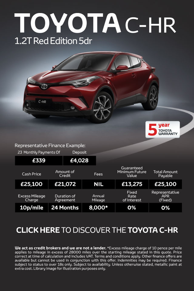 Toyota C-HR 1.2T Red Edition 5Dr Petrol Hatchback - PCP