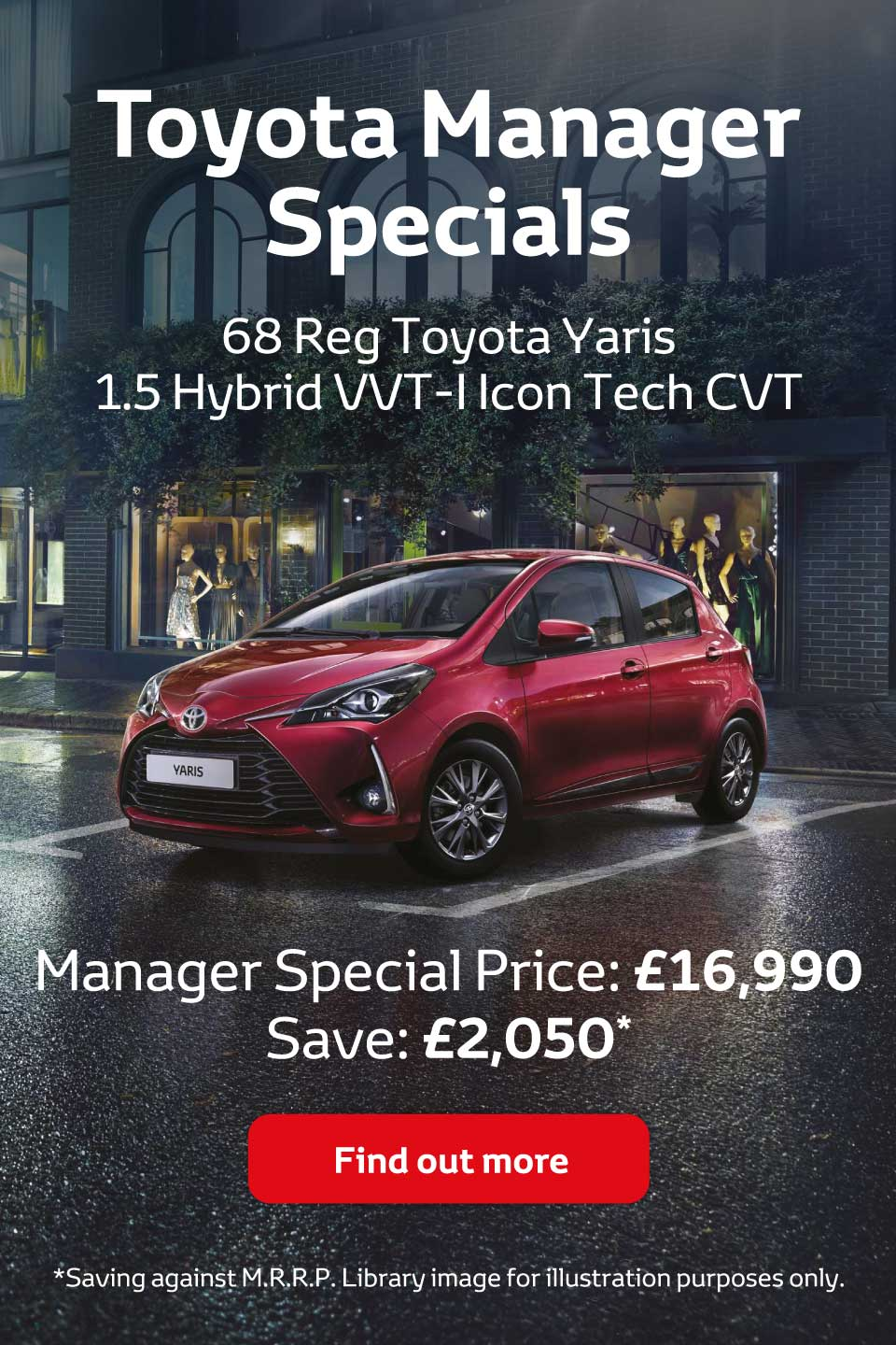 Toyota Manager Specials