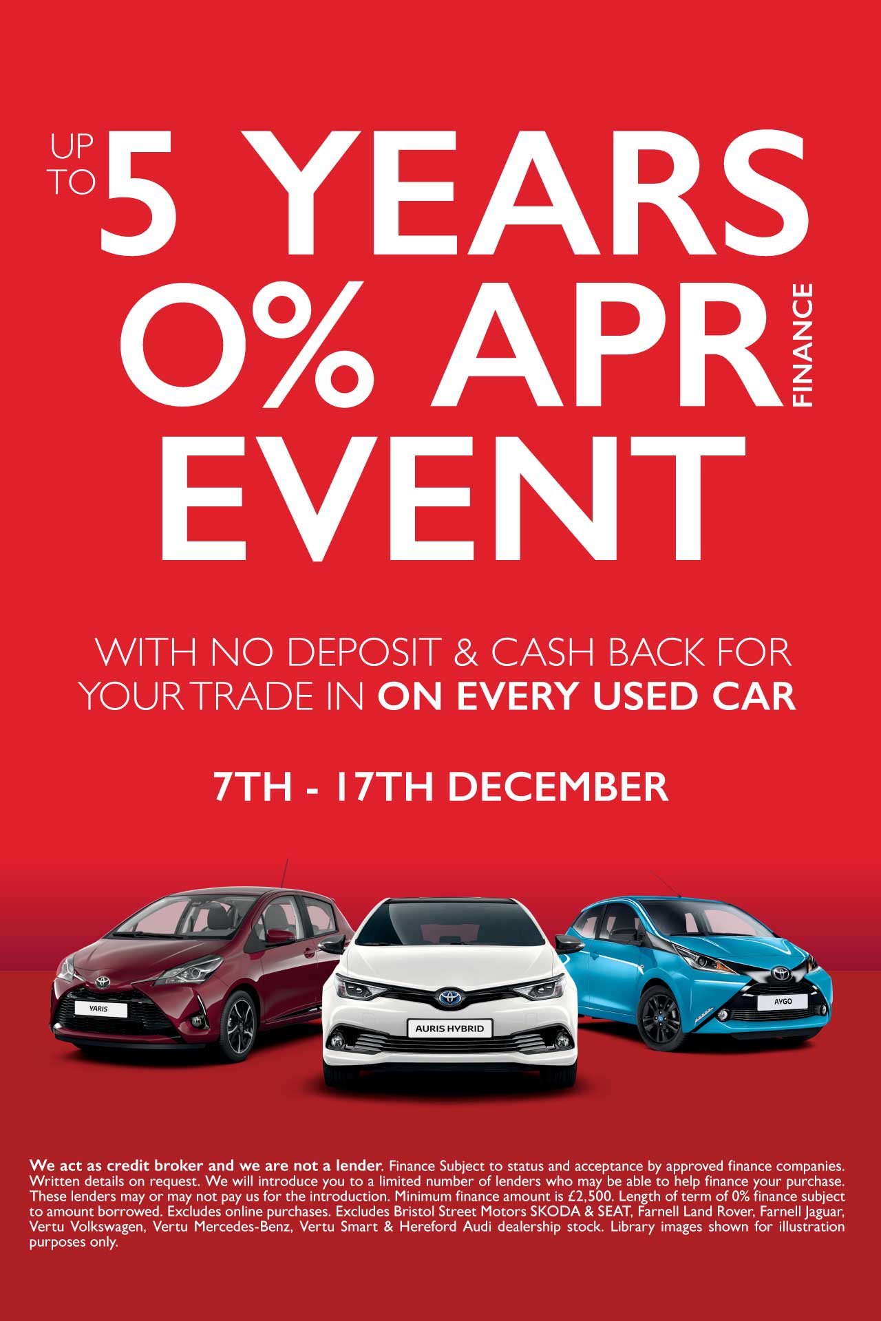 5 Years 0 Event December 18 - Vertu Toyota