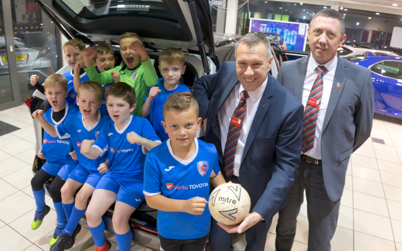 Vertu Toyota Kits Out Chesterfield Junior Footballers