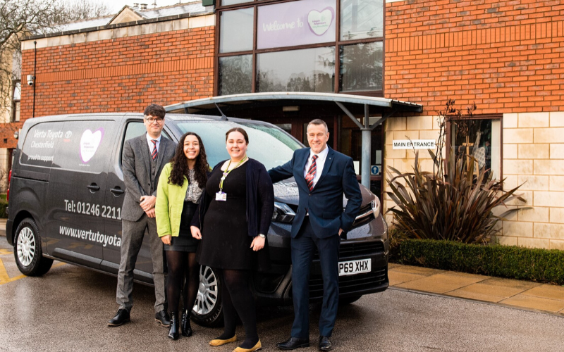 Vertu Toyota Chesterfield Commits To Ongoing Support For Ashgate Hospicecare
